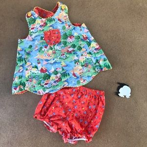 Vintage swing top outfit reversible 4T